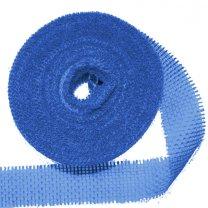 Laatste stuks! jute band blauw, 5 meter, 6cm