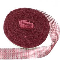 Jute band bordeaux, 6cm