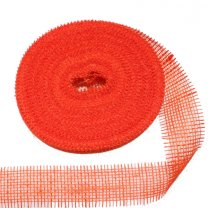 jute band oranje, 6cm