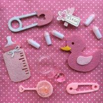 It's a girl, gemengd zakje babyshower decoratie, 12stuks