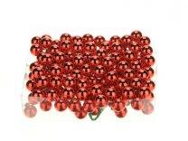 glasballetjes 20 mm op draad rood glans a 144