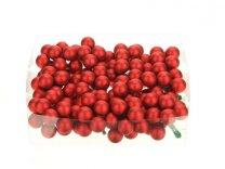 glasballetjes 20 mm op draad rood mat a 144 s
