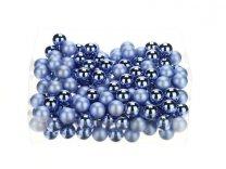glasballetjes 20 mm op draad blauw combi a 14