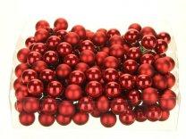 glasballetjes 20 mm op draad rood pearl combi