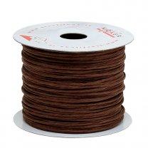 papierdraad 2mm , bruin, prijs per 10 meter