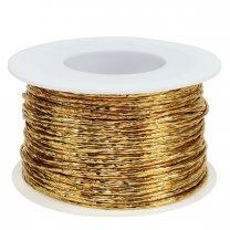 papierdraad 2mm goud, prijs per meter
