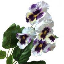 Wit-lila viooltjes, 25cm