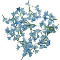 Lichtblauwe seringen bloemetjes mix, 2,5cm