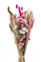 Boeket roze-groen, 60cm