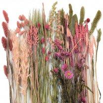 Boeket roze-groen, 55cm