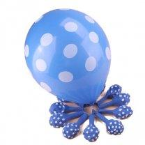 Ballonnen Middenblauw met stippen, 6 stuks