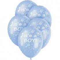 Ballonnen It's a Boy, 5 stuks