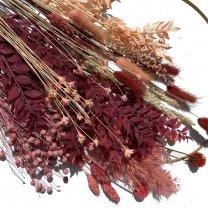 Droogbloemen mix Blush met zalmtinten, 60cm