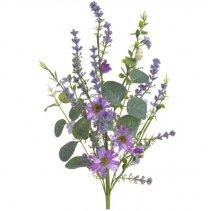 Weideboeket paars-blauwe tinten, 54cm