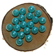 Kralen 12mm kleur lmint/aqua a 20 gram