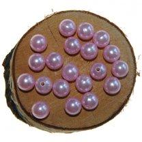 Kralen 12mm kleur lichtroze a 20 gram