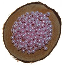 Kralen 5mm kleur lichtroze a 15 gram