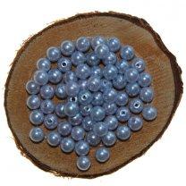 Kralen 7mm kleur lichtblauw, 15 gram