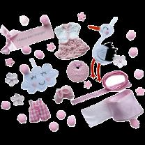 Roze setje met ooievaar