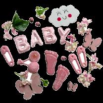Roze lentemix BABY en kleine voetjes