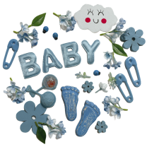 Lichtblauwe lentemix BABY en kleine voetjes