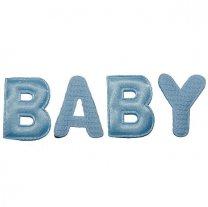 Letters BABY blauw, 4cm