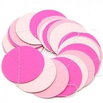 Baby shower cirkel slinger roze. 2mtr