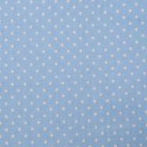 Babyblauwe stof met stippeltjes, 35x120cm