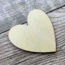 Houten hartje, rond model, 5cm, 3mm dun