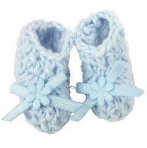 Setje lichtblauwe gehaakte sokjes, 2,5cm