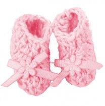 Roze gehaakte sokjes, 2,5cm