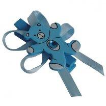 Knijpertje met blauwe houten beertje, 5x3,5cm