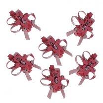 6 Knijpertje met roze houten beertje, 5x3,5cm