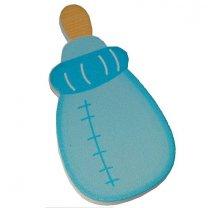 Houten babyflesje, blauw 7cm