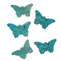 Aqua vlinder van Schors, 5 stuks, 5cm