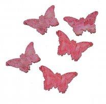 Roze vlinder van Schors, 5 stuks, 5cm