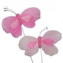 Roze Vlinders, 9cm