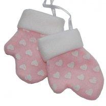 Handschoenen setje roze, 8cm