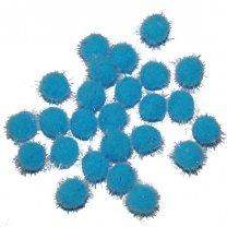 Lichtblauwe pompons, 25stuks