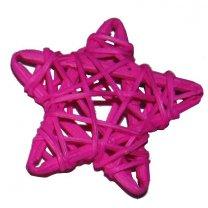 Roze rieten bol ster, 6cm