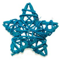 Lichtblauw rieten bol ster, 6cm