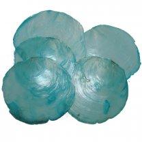 Capiz, camar shell aqua, 10 stuks, 10cm