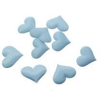Stoffen hartjes lichtblauw, 20 stuks