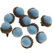 Lichtblauw eikeltjes, 10stuks, 2cm