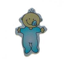 Houten baby'tje, blauw, 4cm