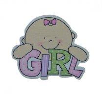 Baby girl, roze, 4cm