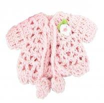 Gehaakte roze vestje, 10cm