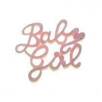 Baby girl plastic tekst, 3cm x 24mm