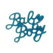 Baby boy plastic tekst, 3cm x 24mm