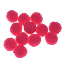 Roze pompons, 12stuks